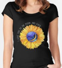 I Love You To The Moon And Back Women's Fitted Scoop T-Shirt