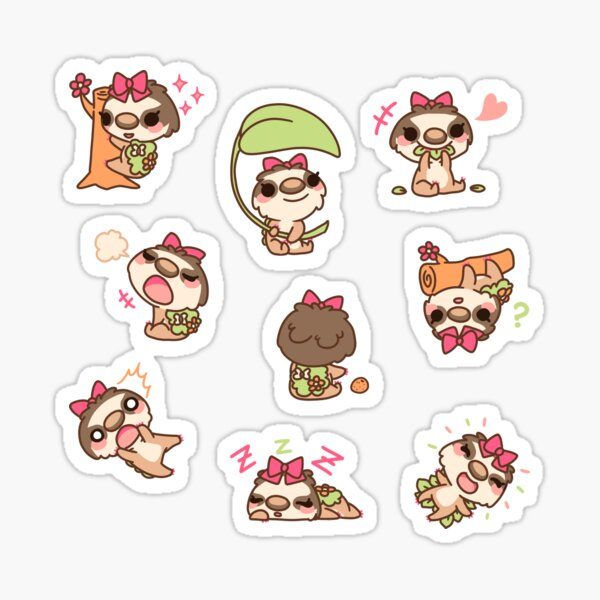 Missy the Sloth Sticker