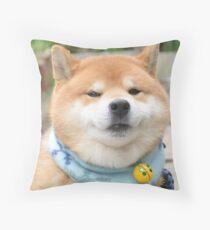 macho grin Throw Pillow