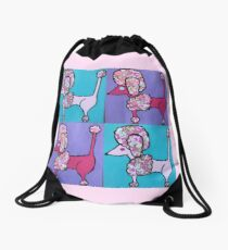 Lana Banana Poodles Drawstring Bag