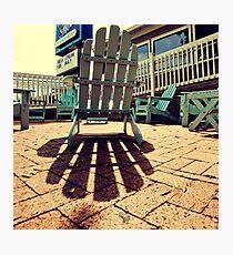 Blue Chair Photographic Print