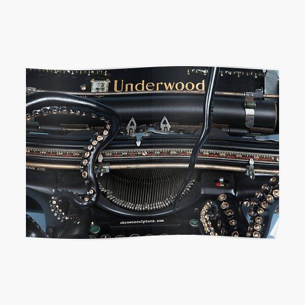 Close Up of Octo Typewriter Poster
