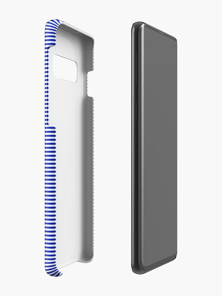 Alternate view of Cobalt Blue and White Horizontal Nautical Sailor Stripe Cases & Skins for Samsung Galaxy