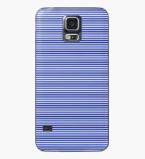 Cobalt Blue and White Horizontal Nautical Sailor Stripe Case/Skin for Samsung Galaxy