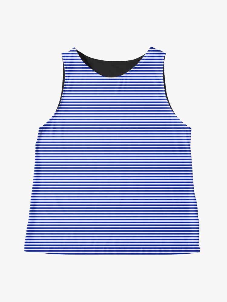 Alternate view of Cobalt Blue and White Horizontal Nautical Sailor Stripe Sleeveless Top
