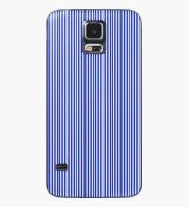 Cobalt Blue and White Vertical Nautical Sailor Stripe Case/Skin for Samsung Galaxy