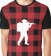 Red Buffalo Plaid - Soldier Graphic T-Shirt