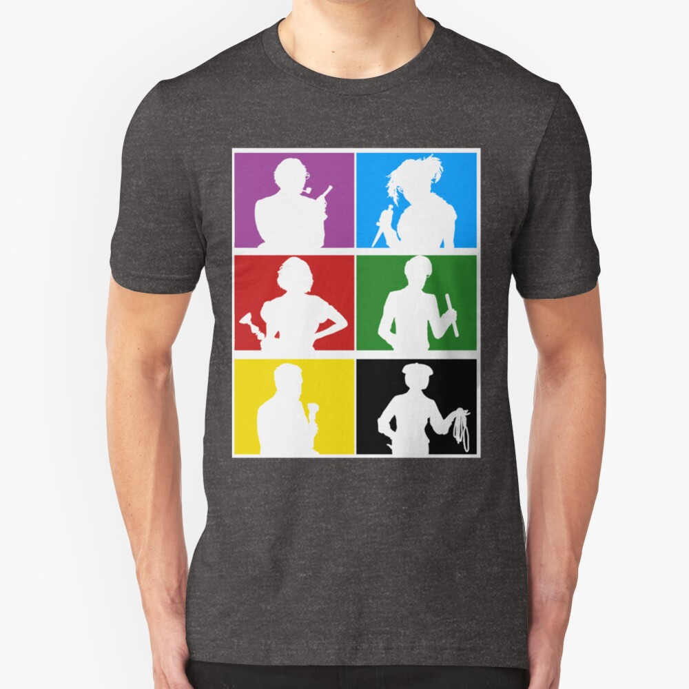 Clue (1987) Character Lineup Slim Fit T-Shirt