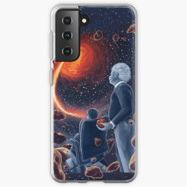 Ghosts in the Sky: Einstein and Hawking Samsung Galaxy Soft Case