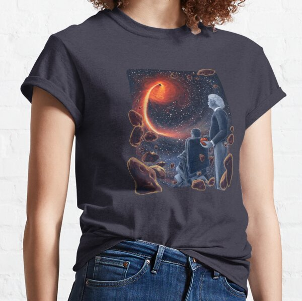 Ghosts in the Sky: Einstein and Hawking Classic T-Shirt