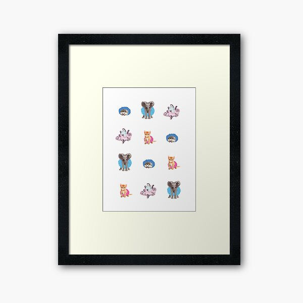 Animals in Tutus Framed Art Print