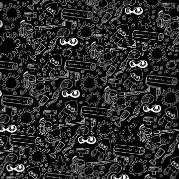 Splat 'n Guns (Black) by Noly