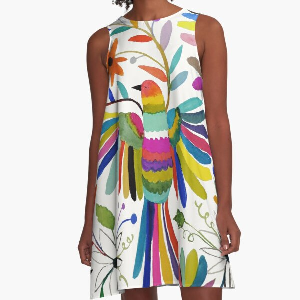otomi bird A-Line Dress