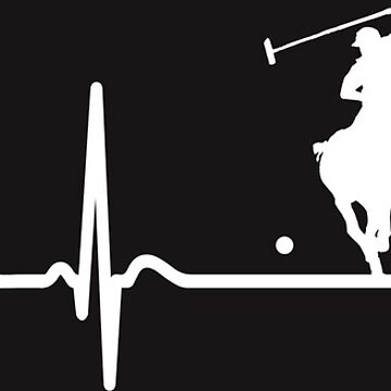Heartbeat Polo T-Shirt - Cool Funny Nerdy Comic Graphic Polo Horse Polo Player Poloclub Humor Quote Sayings Shirt Gift Gift Idea by melia321