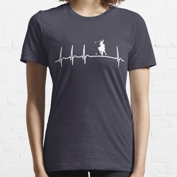 Heartbeat Polo T-Shirt - Cool Funny Nerdy Comic Graphic Polo Horse Polo Player Poloclub Humor Quote Sayings Shirt Gift Gift Idea Essential T-Shirt