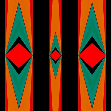 Tribal Red Black Gold Green by PlanetLucky