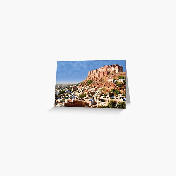 Fort Overlooking City - Jodhpur (Blue City), India Greeting Card