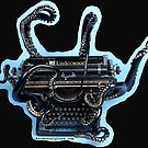 Full Color, Contour Outlined Octopus Typewriter by octotypewriter