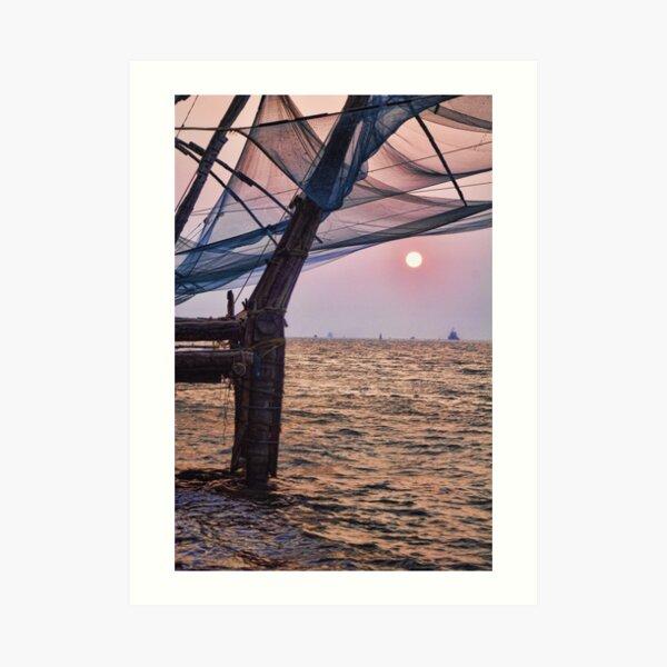 Fort Cochin, Kochi, India - Chinese Fishing Nets Art Print