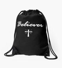 Believer Cross Bible Verse Christian Jesus Christ Love Drawstring Bag