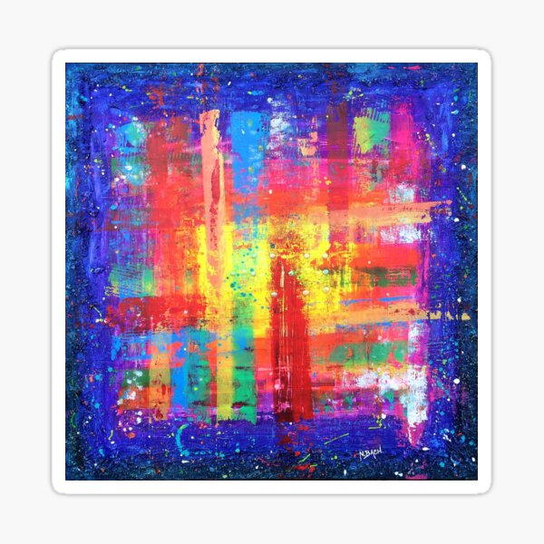 I have found my Joy! Braille abstract expressionism prophetic art Sticker