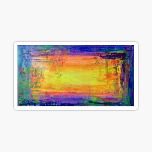 Abundant sunset - abstract expressionism prophetic art Sticker
