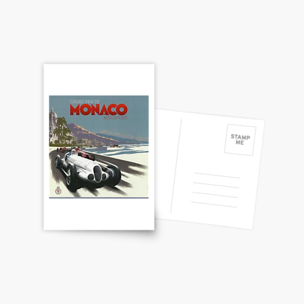 Retro Plakat Grand Prix von Monaco 1929 Postkarte