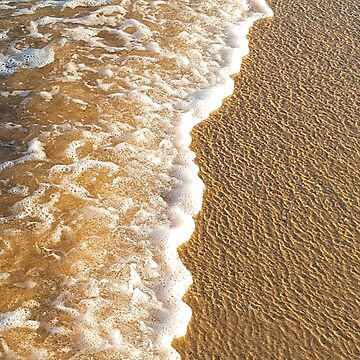 Waves lapping at the beach by Bellamaree