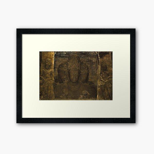 Elephanta Island Caves, Mumbai, India Framed Art Print