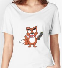 angry zombie taser fox Women's Relaxed Fit T-Shirt