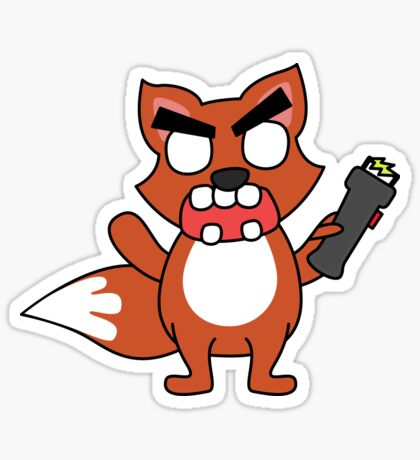 angry zombie taser fox Sticker