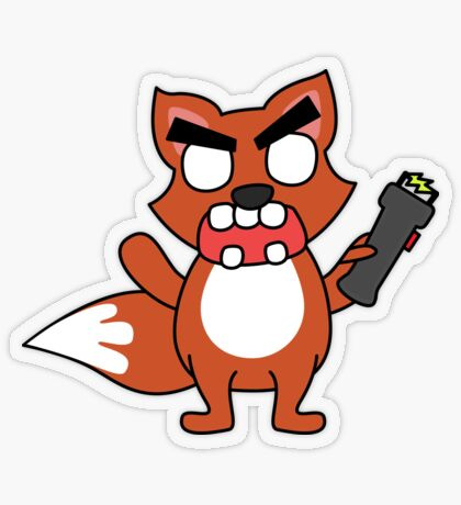 angry zombie taser fox Transparent Sticker