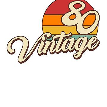 Vintage 1980 Retro Birthday by styleuniversal