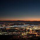 Canberra From Top Of Mount Ainslie At Night by Sam Ilic