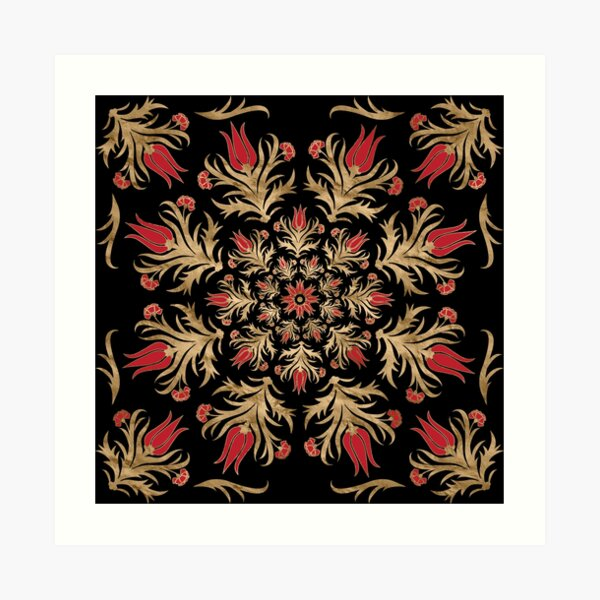 Turkish tulip - Ottoman tile  Art Print
