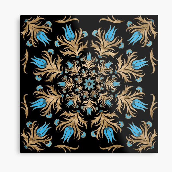 Turkish tulip - Ottoman tile  Metal Print