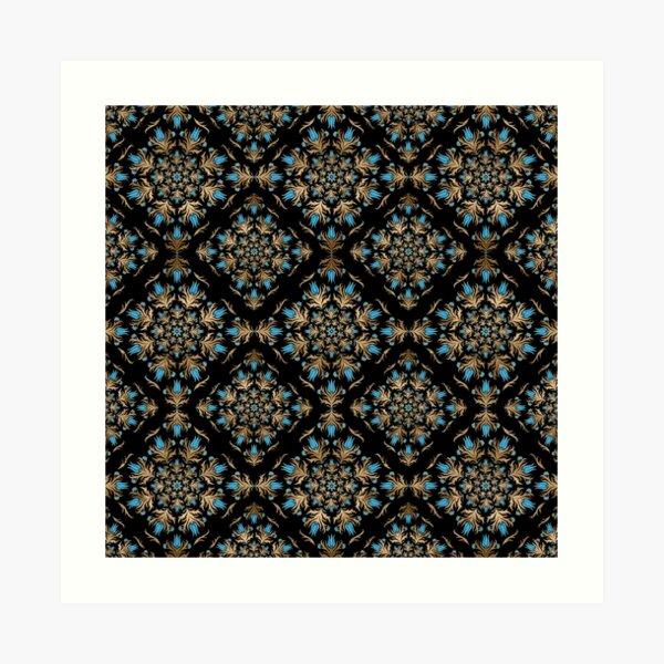 Turkish tulip - Ottoman tile pattern  Art Print