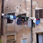 Clothes Line, Rome Italy by Mythos57
