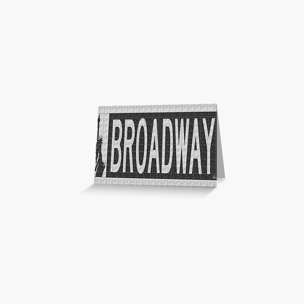 BROADWAY DECO SWING NYC Street Sign  Greeting Card