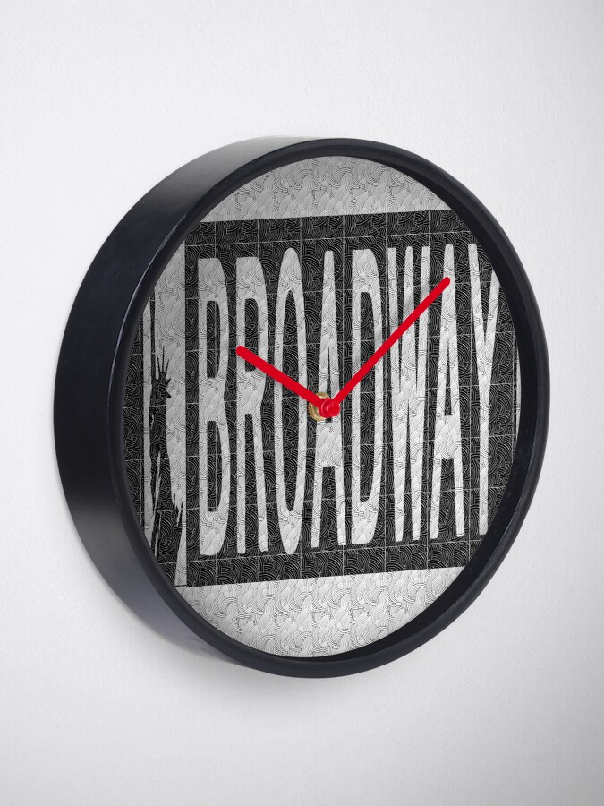 Alternate view of BROADWAY DECO SWING NYC Street Sign  Clock