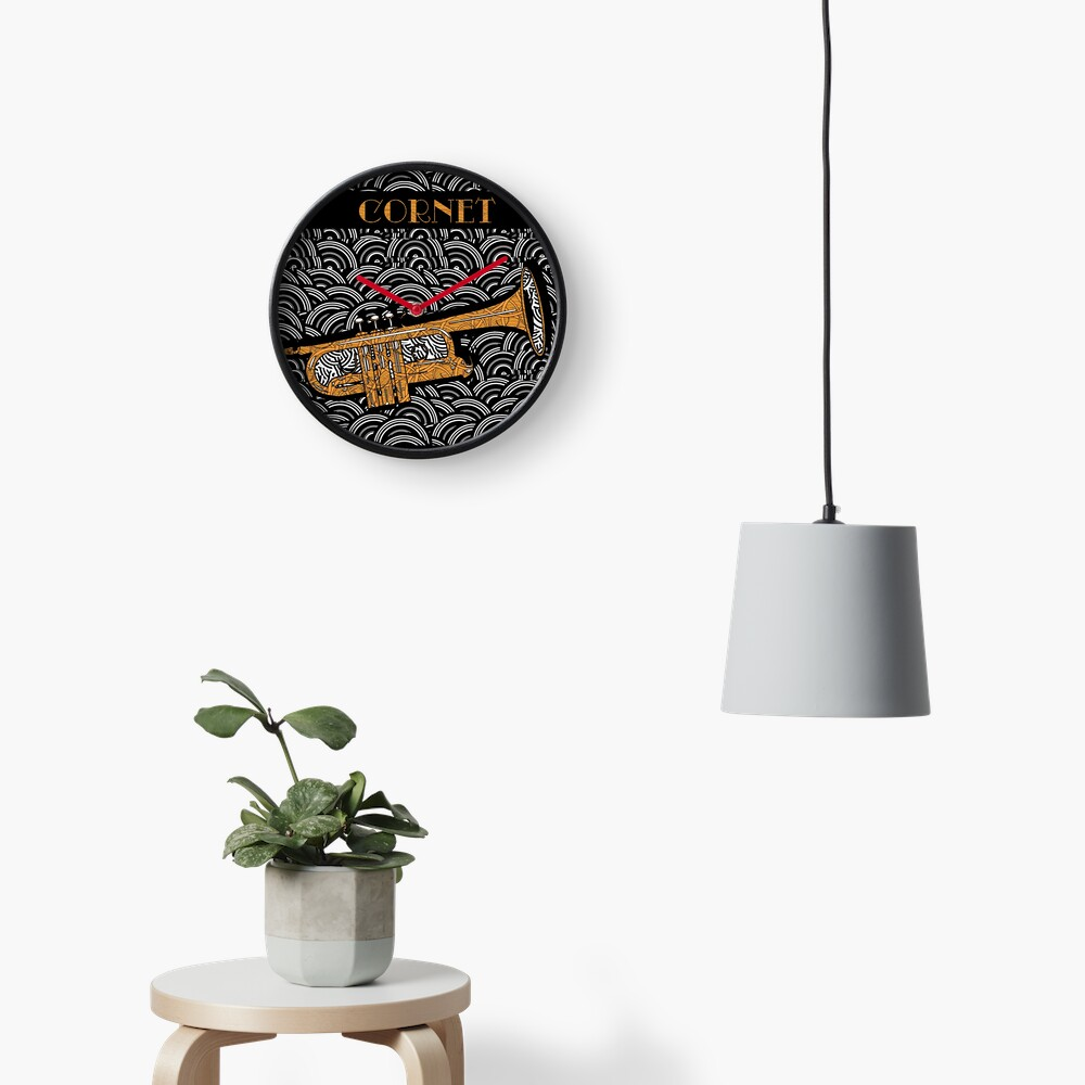 Cornet Chords Pop Art Deco Swing Clock