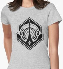Halo   UNSC Navy Insignia Weathered Women's Fitted T-Shirt
