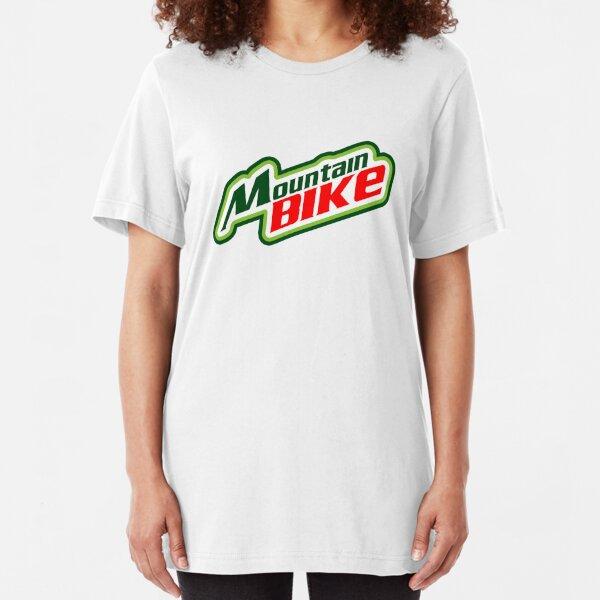 Mountain Bike Mountain Dew Parody Slim Fit T-Shirt