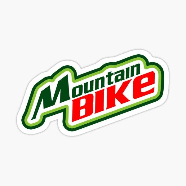 Mountain Bike Mountain Dew Parody Sticker