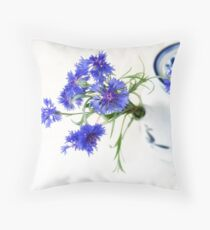 Blue Cornflower Display  Floor Pillow