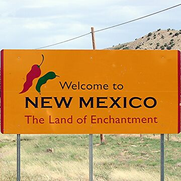 New Mexico state road sign by FranWest