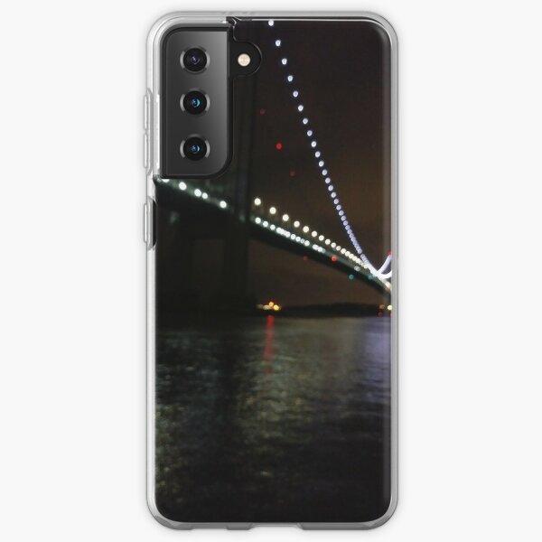 Verrazano Narrows Bridge, #Verrazano, #Narrows, #Bridge, #VerrazanoNarrowsBridge, #VerrazanoBridge, #NewYorkCity, #NewYork, #Brooklyn, #StatenIsland, #water, #night Samsung Galaxy Soft Case