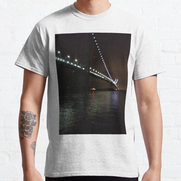 Verrazano Narrows Bridge, #Verrazano, #Narrows, #Bridge, #VerrazanoNarrowsBridge, #VerrazanoBridge, #NewYorkCity, #NewYork, #Brooklyn, #StatenIsland, #water, #night Classic T-Shirt