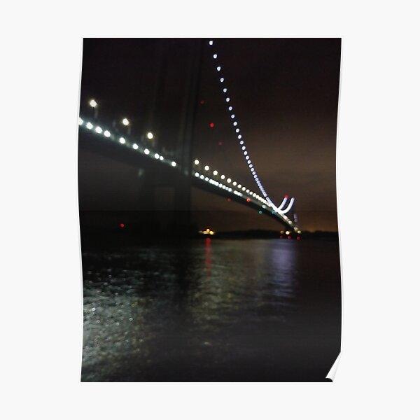 Verrazano Narrows Bridge, #Verrazano, #Narrows, #Bridge, #VerrazanoNarrowsBridge, #VerrazanoBridge, #NewYorkCity, #NewYork, #Brooklyn, #StatenIsland, #water, #night Poster