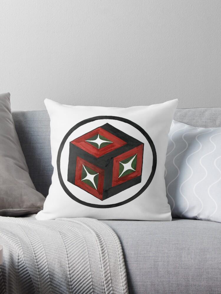 Antahkarana Ancient Reiki Healing Symbol Throw Pillows By Maksim